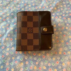Authentic Louis Vuitton Damier compact wallet